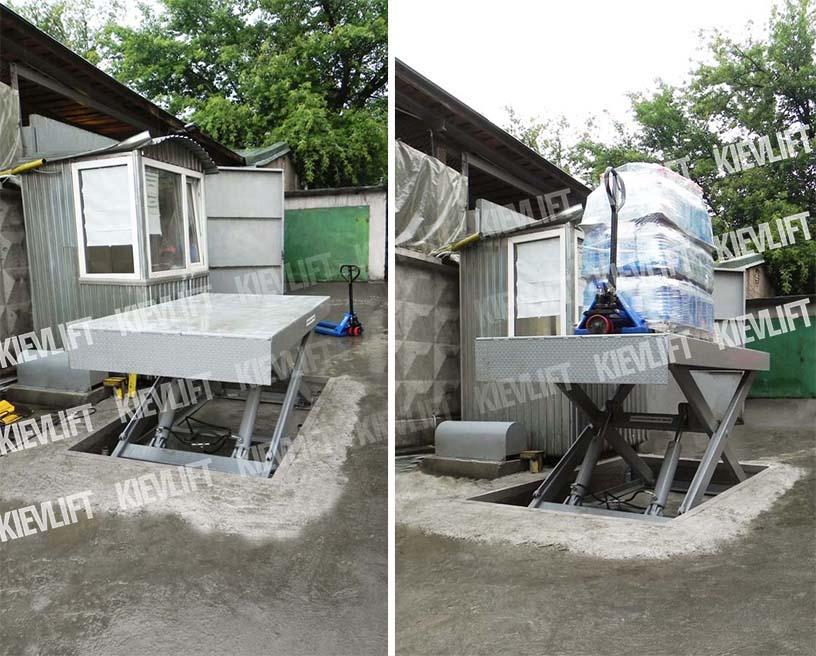 низкопрофильная гидравлическая платформа, низькопрофільні підйомні столи