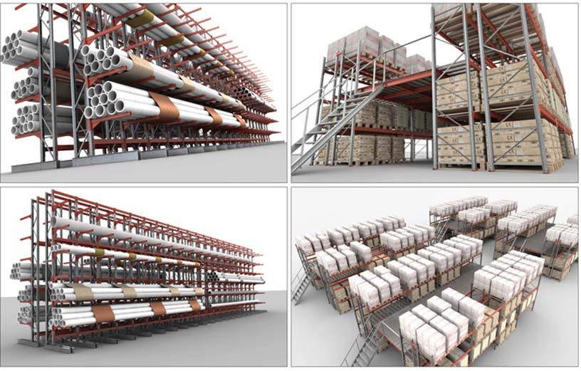 стеллажи промышленные, металлические складские стеллажи