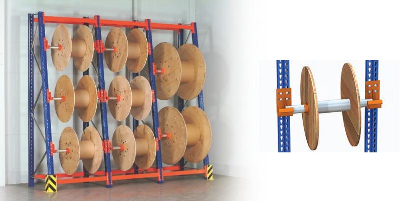 стелажі для зберігання барабанів