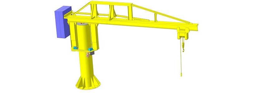 консольно-поворотный кран