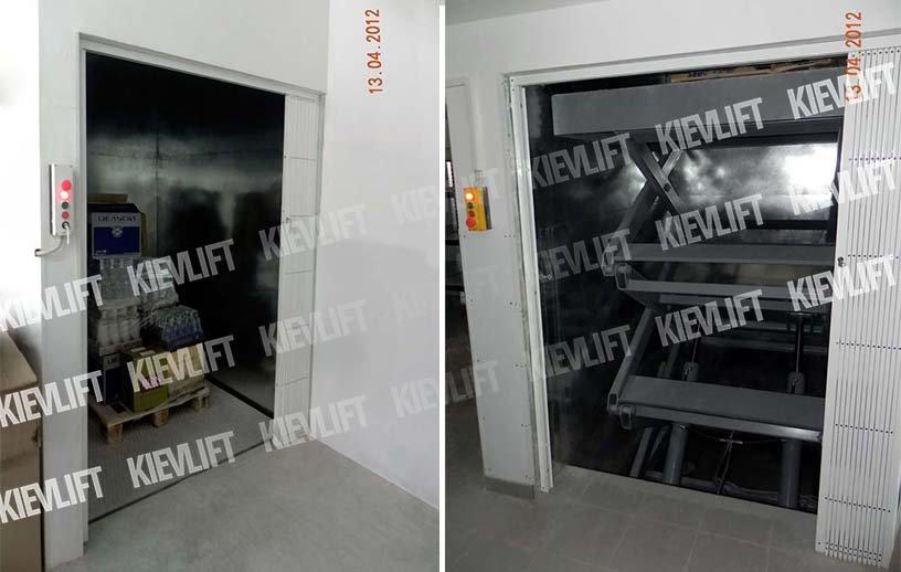 грузовой лифт-подъемник для магазина